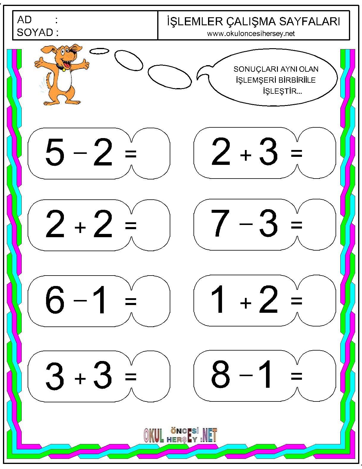Okul öncesi dönem için matematik: orijinal bilgiyi öğrenmek
